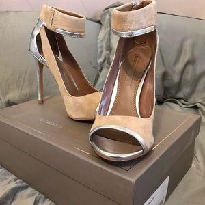 BCBGMAXAZRIA Charlotte Suede Sandals